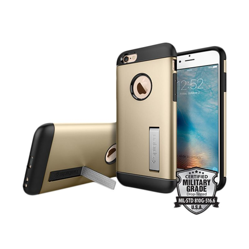 Spigen Case Slim Armor Champagne Gold Casing for iPhone 6/6s