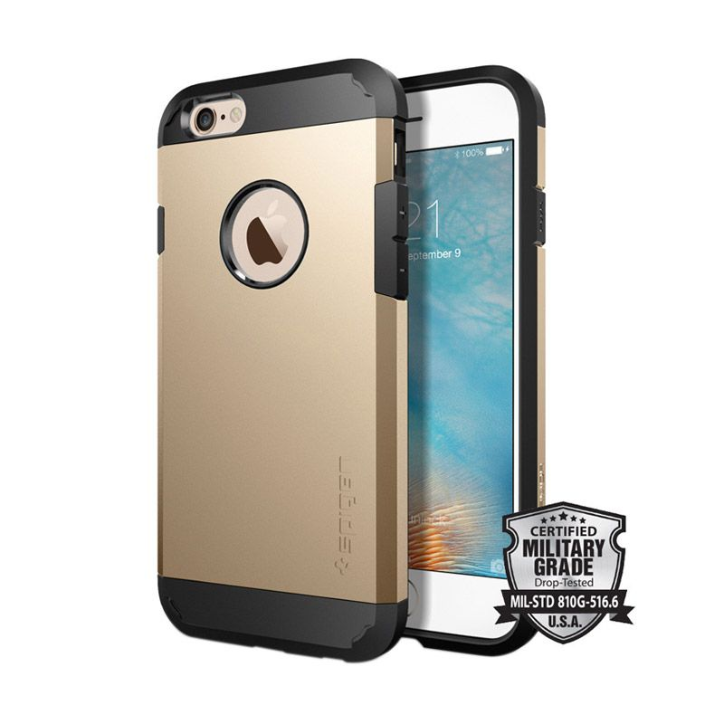 Spigen Tough Armor Casing for iPhone 6 or 6s - Champagne Gold