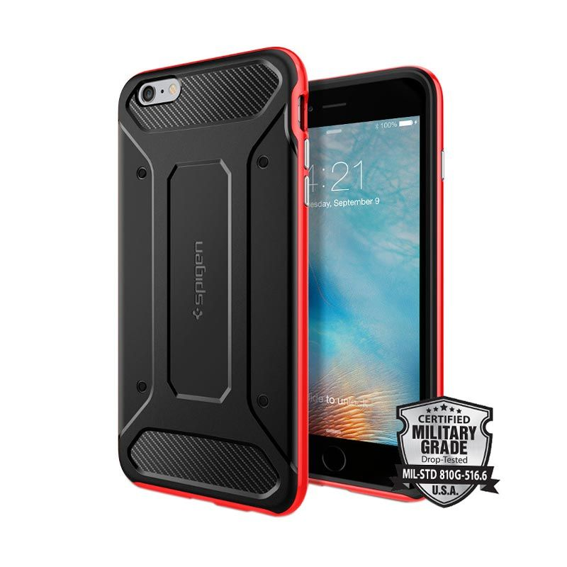 Spigen Neo Hybrid Carbon Casing for iPhone 6 Plus or 6s Plus - Dante Red