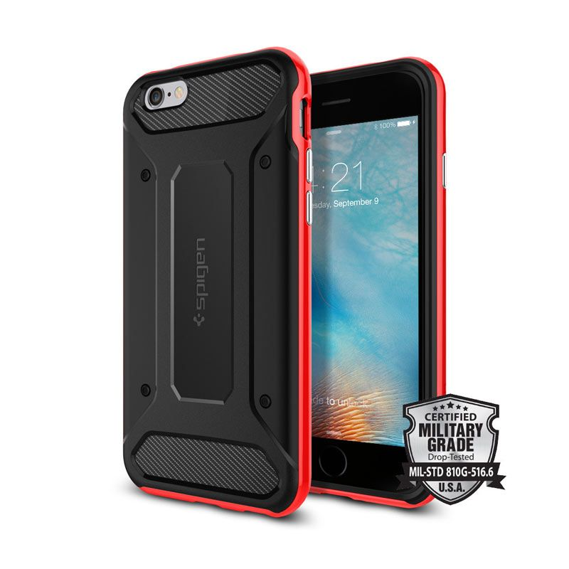 Spigen Neo Hybrid Carbon Dante Red Casing for iPhone 6 Plus or 6S Plus