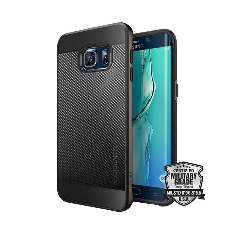 Spigen Neo Hybrid Carbon Gunmetal Casing for Galaxy S6 Edge Plus