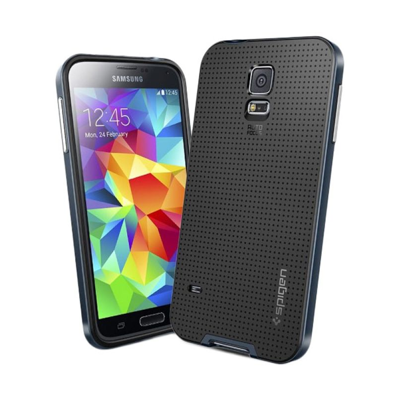 Spigen Neo Hybrid Gunslate Dark Blue Casing for Samsung Galaxy S5
