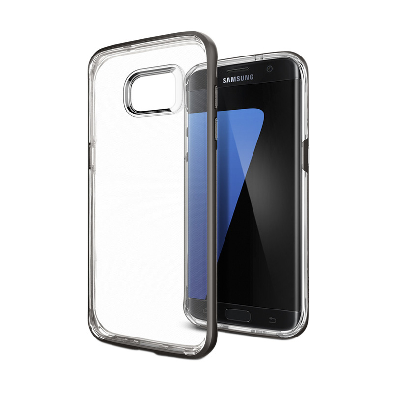 Spigen Neo Hybrid Crystal Casing for Samsung Galaxy S7 Edge - Gunmetal