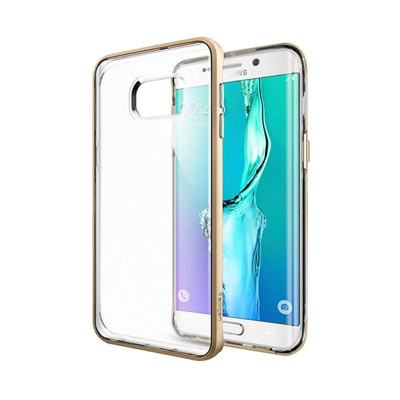 Spigen Neo Hybrid Crystal Champagne Gold Casing for for Galaxy S6 Edge Plus