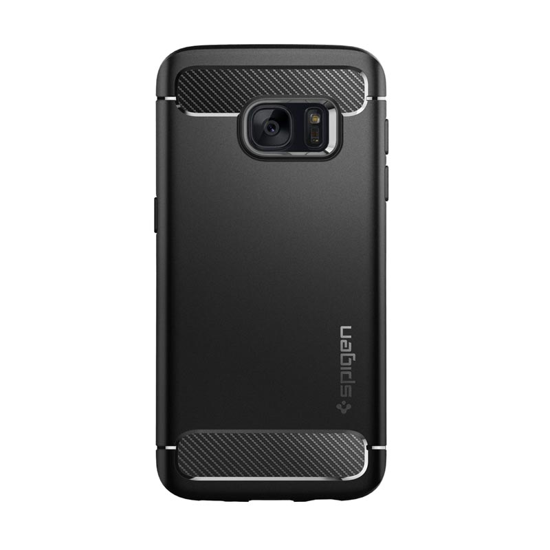 Spigen Rugged Armor Casing for Samsung Galaxy S7 - Black
