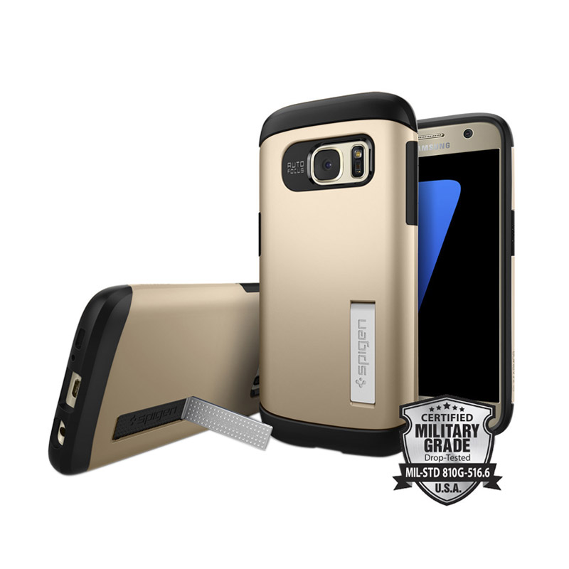 Spigen Slim Armor Casing for Samsung Galaxy S7 - Champagne Gold