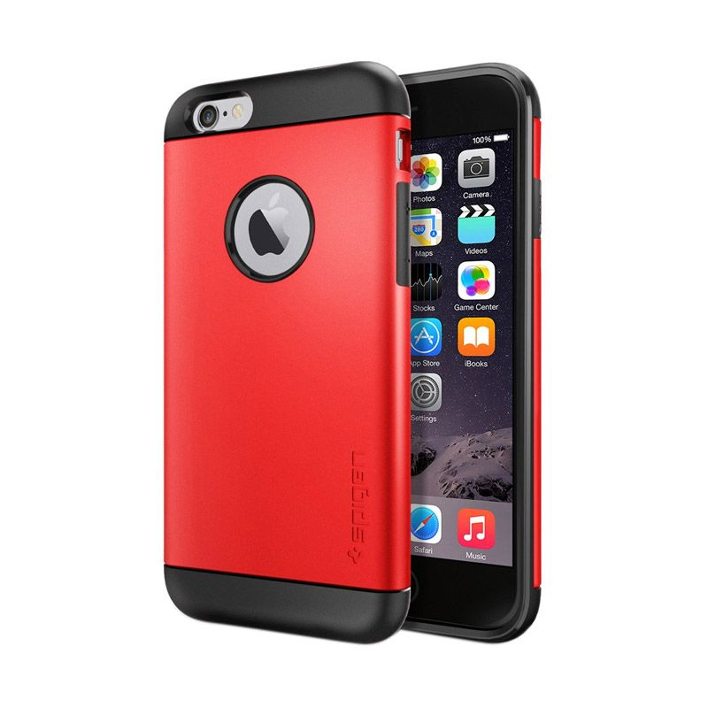 Spigen Slim Armor Electric Red Casing For iPhone 6