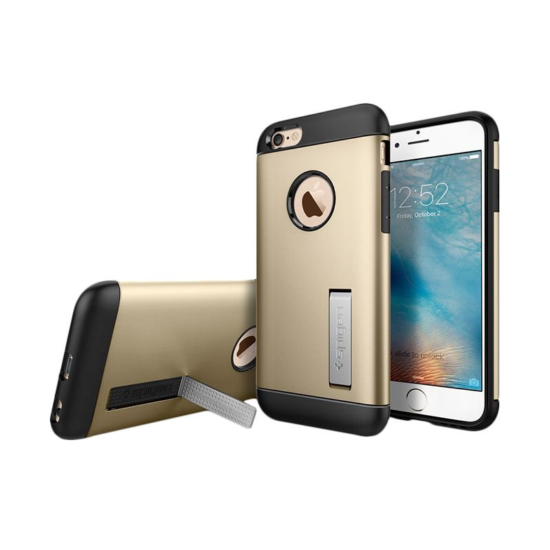 Spigen Slim Armor Gold Casing for iPhone 6/6S [4.7 Inch]