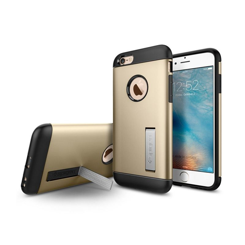Spigen Slim Armor Gold Casing for iPhone 6S or iPhone 6 [4.7 Inch]