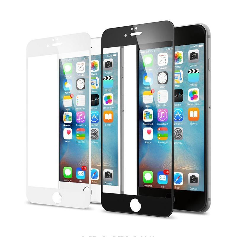 Spigen Tempered Full Cover Glass White Screen Protector for iPhone 6S or iPhone 6 [4.7 Inch]