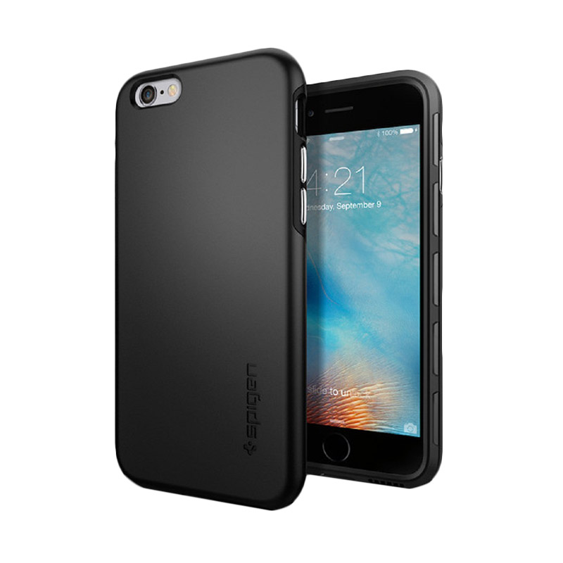 harga Spigen Thin Fit Hybrid Black Casing for iPhone 6S Plus or 6 Plus [5.5 Inch] Blibli.com