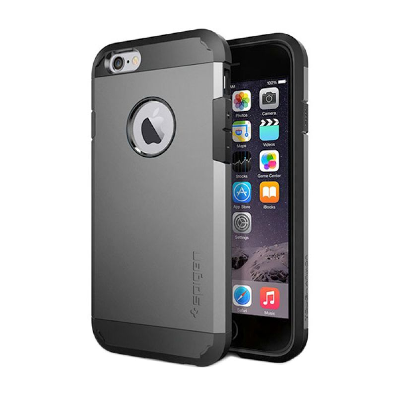Spigen Tough Armor Series Gun Metal Casing for iPhone 6