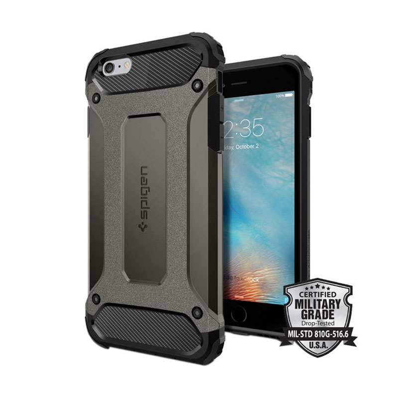 Spigen Tough Armor Tech Casing for iPhone 6 Plus or 6S Plus - Gunmetal