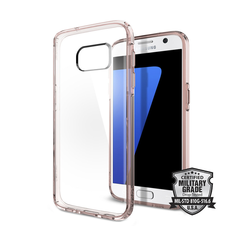 Spigen Ultra Hybrid Casing for Samsung Galaxy S7 - Rose Gold