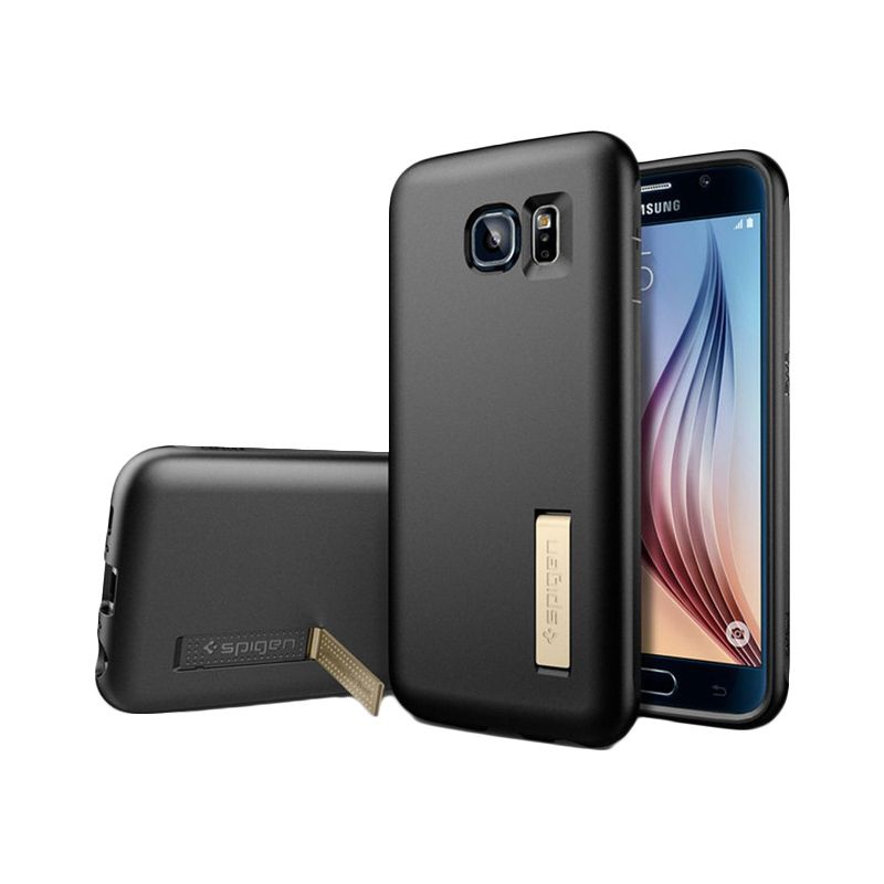 Spigen Capsule Solid Black Casing for Galaxy S6