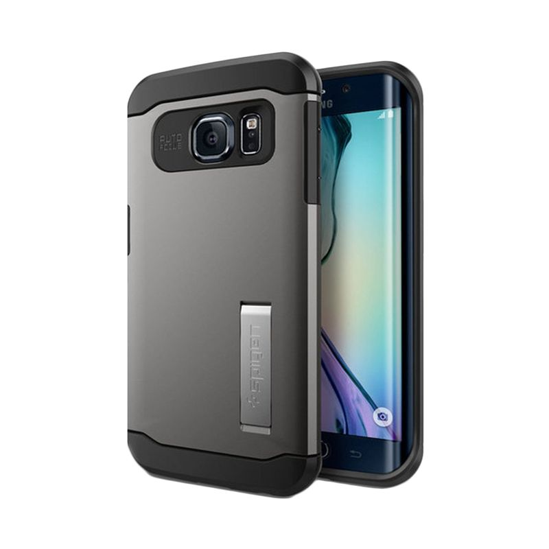 Spigen Slim Armor Gunmetal Casing for Galaxy S6 Edge