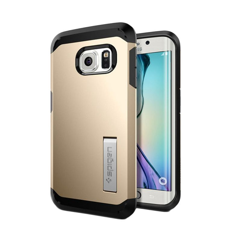 Spigen Tough Armor Champagne Gold Casing for Galaxy S6 Edge
