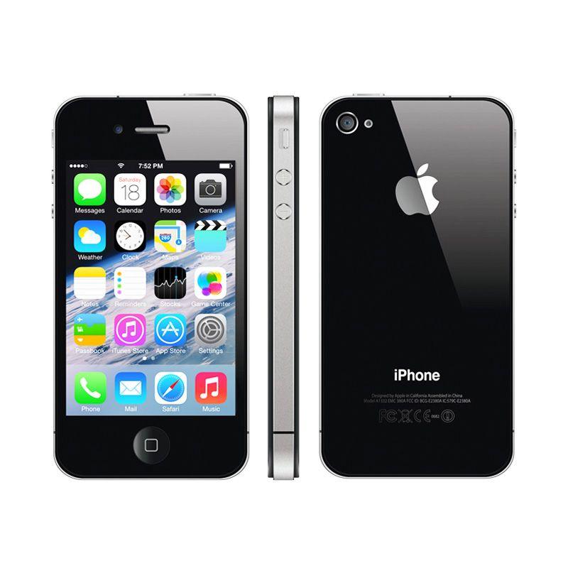 Apple iPhone 4 16 GB Black Smartphone [Refurbished]