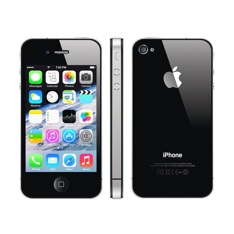 Apple iPhone 4 32 GB Black Smartphone [Refurbished]