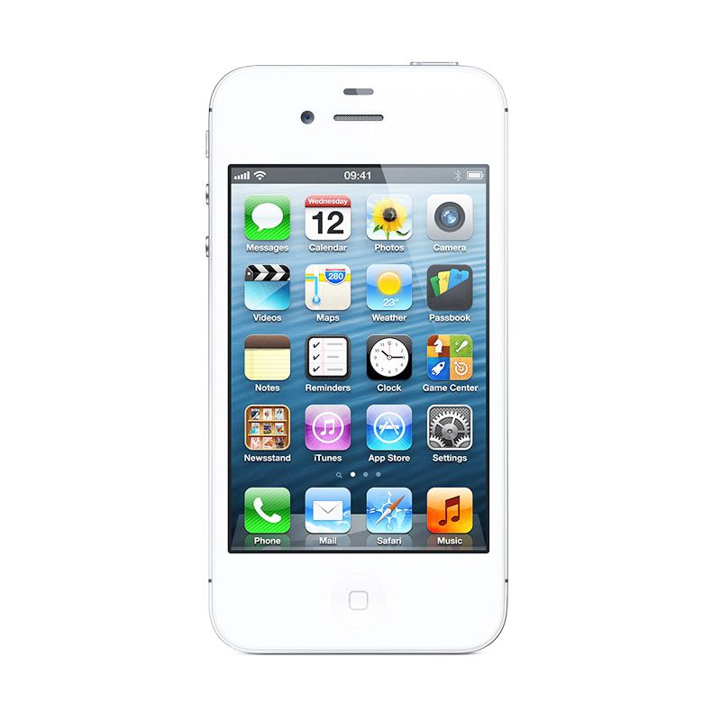 Diskon Apple iPhone 4s 16 GB White Smartphone [Refurbished]