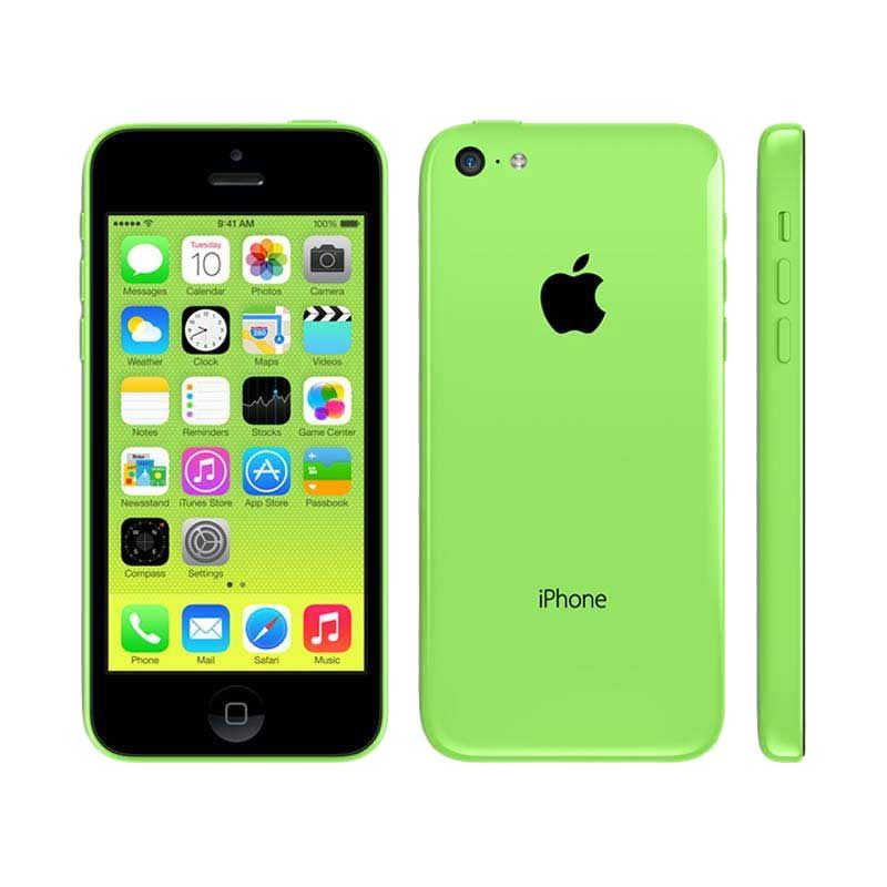 Apple iPhone 5C 16 GB Green Smartphone [Refurbished Garansi Distributor]
