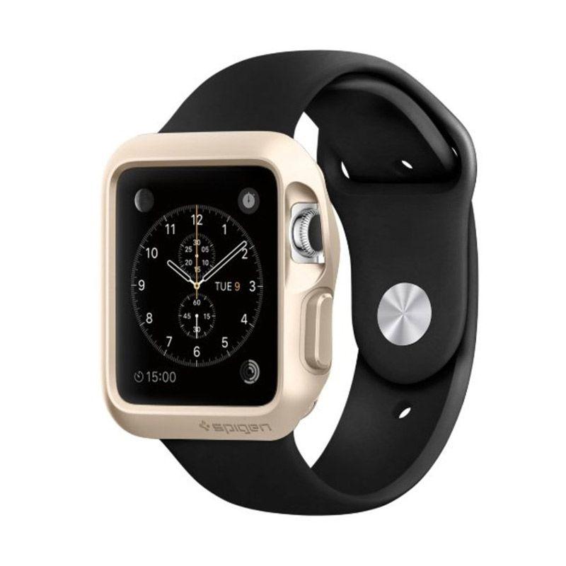 Spigen Slim Armor Gold Casing for Apple Smartwatch [42 mm]