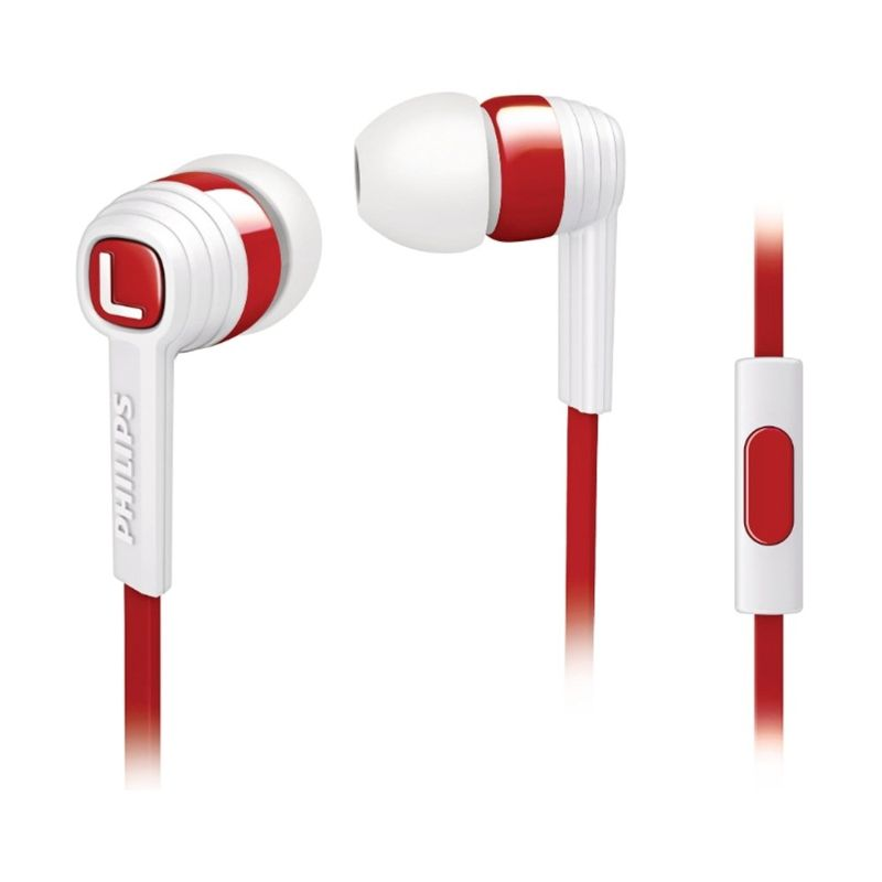 Philips SHE7055EN Citiscape Indies White Red Headset