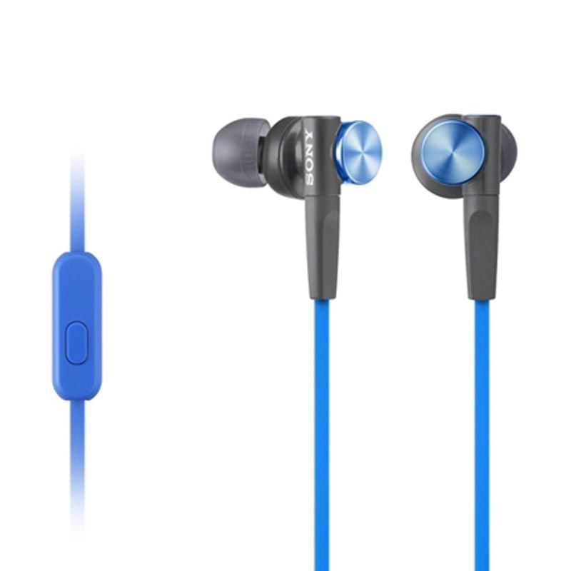 Sony Extra Bass MDR-XB50AP Biru Earphone