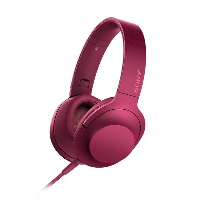 Sony Hear On High Resolution Audio MDR-100AAP Bordeaux Pink Headphone
