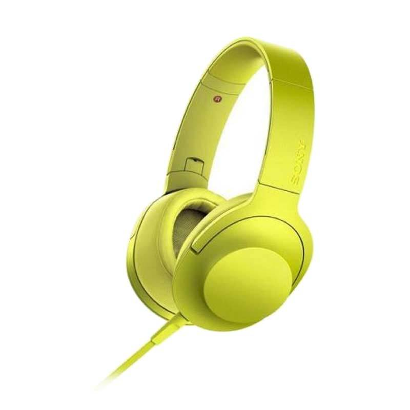 Sony Hear On High Resolution Audio MDR-100AAP Lime Yellow Headphone