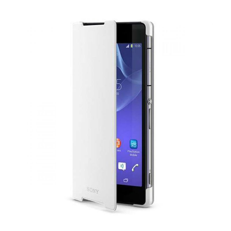 Sony Style Cover Stand SCR10 Putih Casing for Xperia Z2