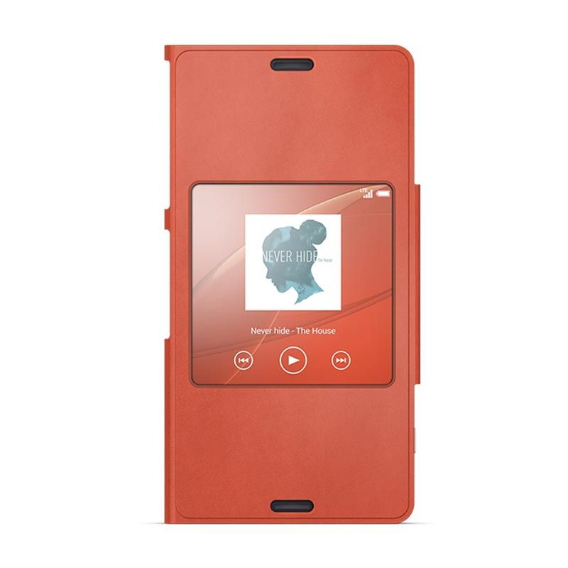 Sony Style Up SCR26 Orange Casing for Xperia Z3 Compact