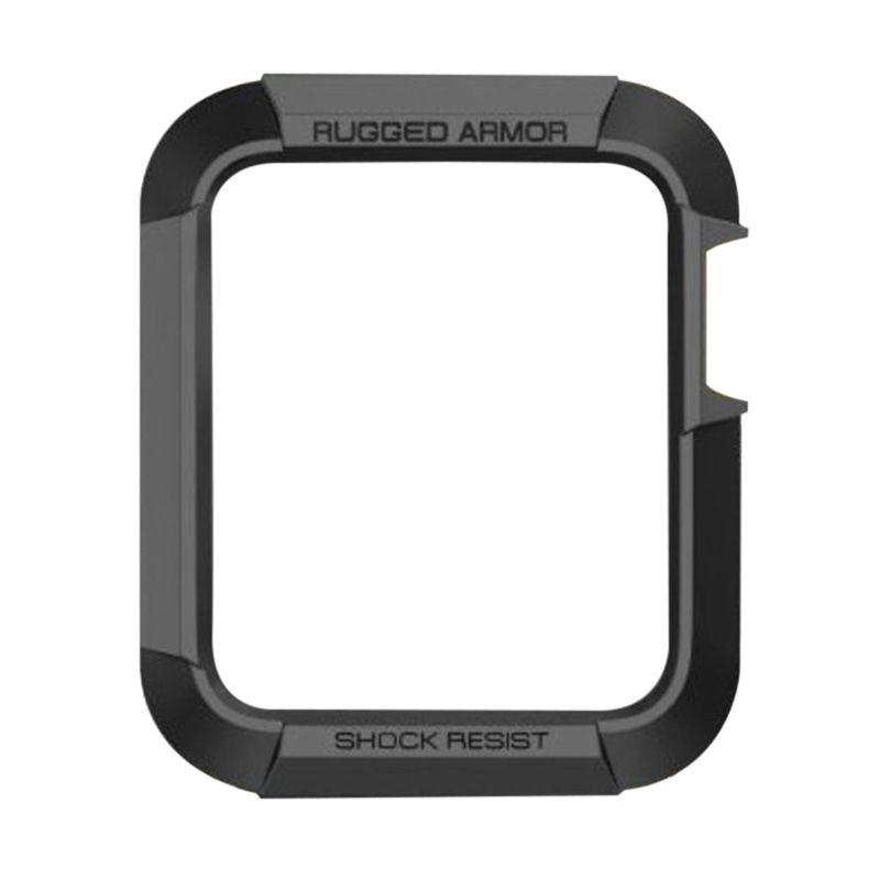 Spigen Rugged Armor Black Casing for Apple Smartwatch [38 mm]