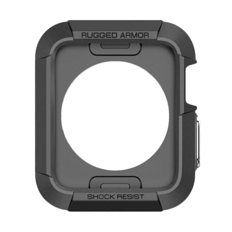 Spigen Rugged Armor Black Casing for Apple Smartwatch [42mm]