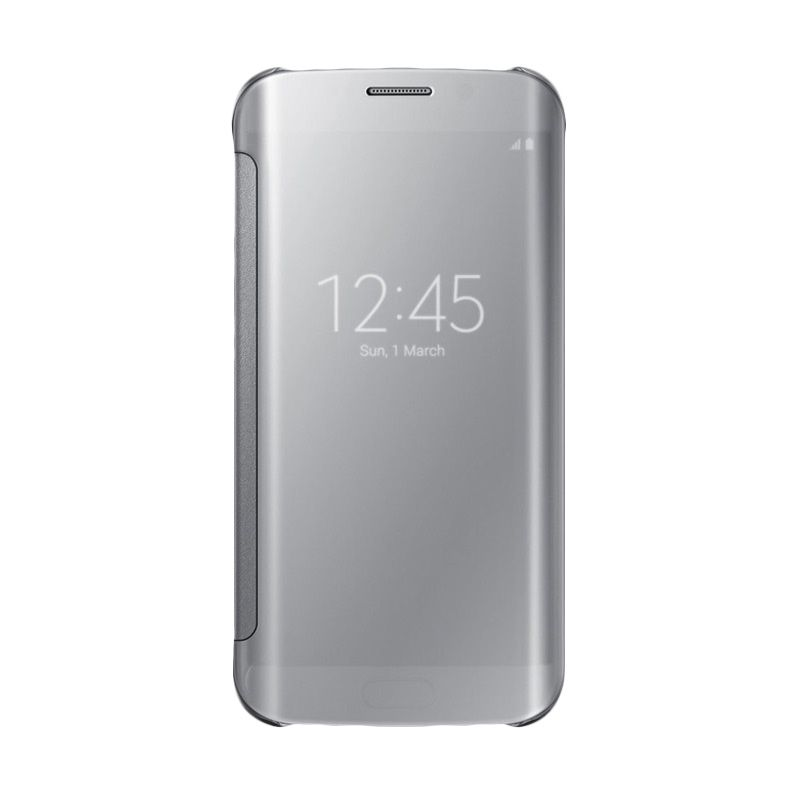 Samsung Original Clear Silver View Cover Casing for Galaxy S6 Edge