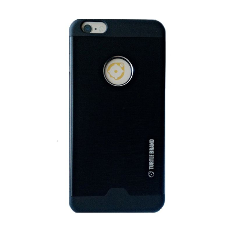 Turtle Brand Tur Case Series Metal Black Casing for Apple iPhone 6 Plus