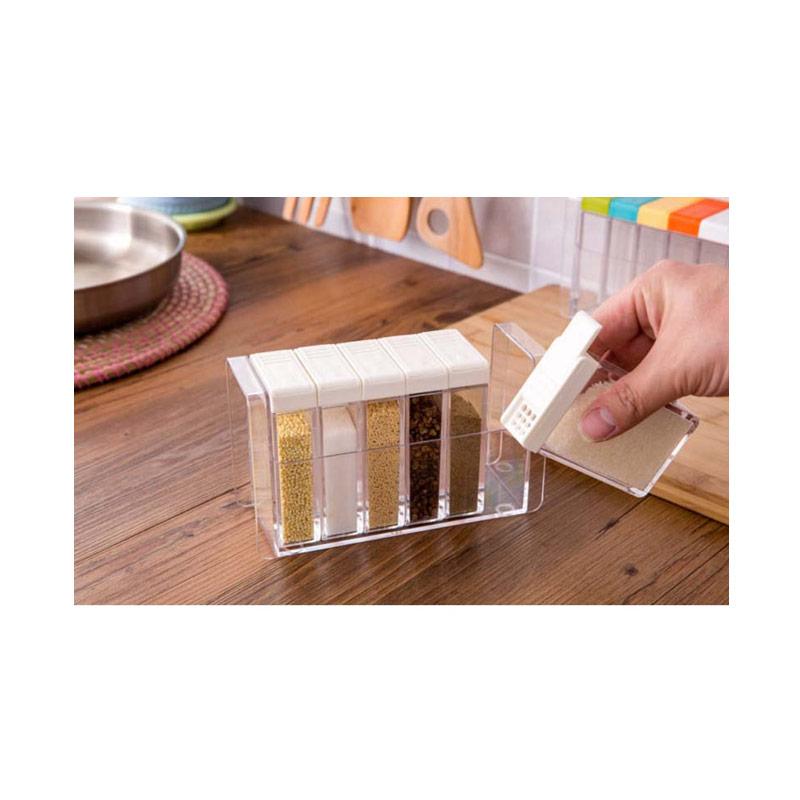 Jual StarHome 6 in 1 Rak Tempat Bumbu Seasoning Box Serbaguna Kristal Online .
