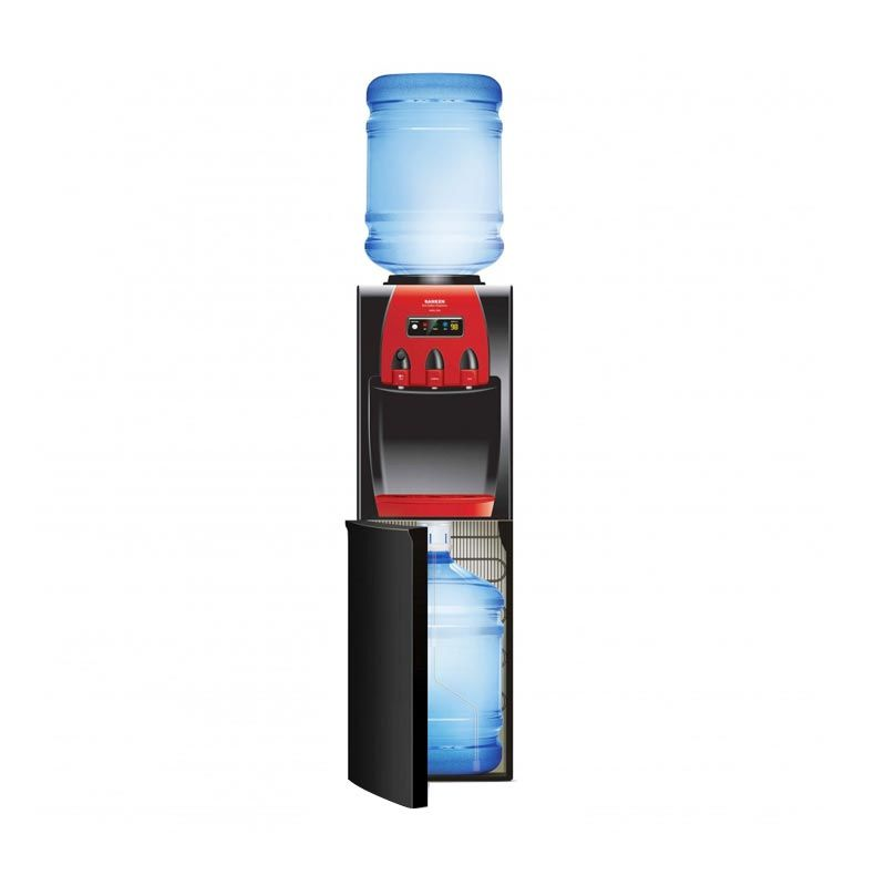 Sanken Duo Gallon HWD-Z88 Hitam Merah Dispenser