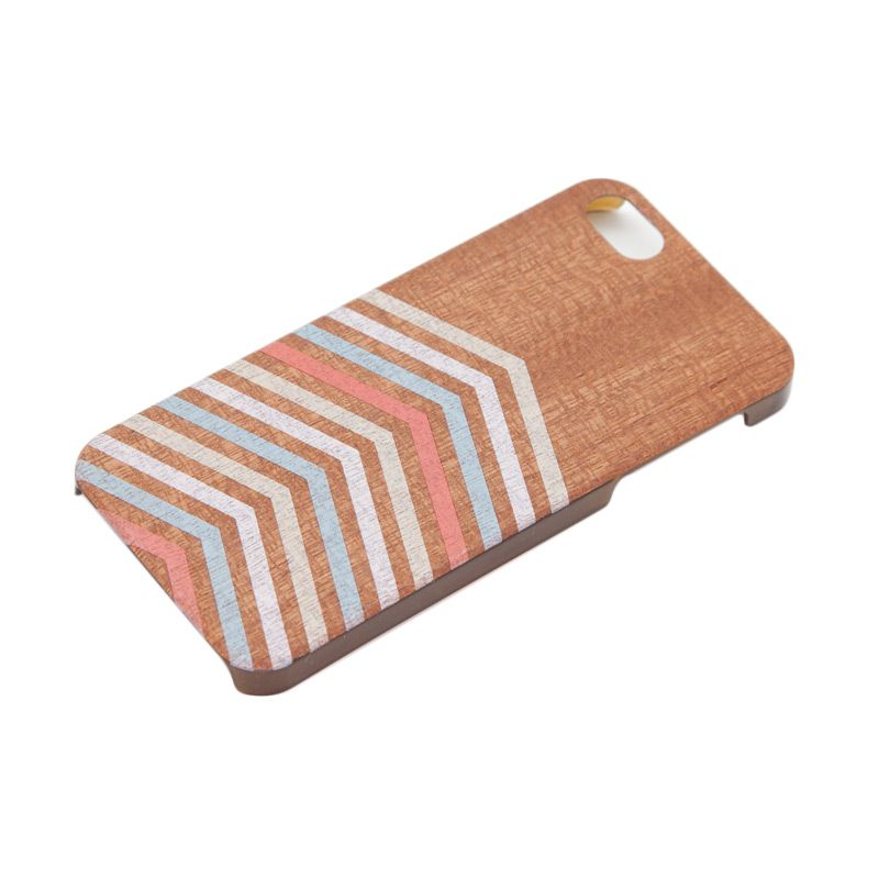 Stave Goods Superthin Sapelle Large Chevrons Casing for iPhone 5 or 5s