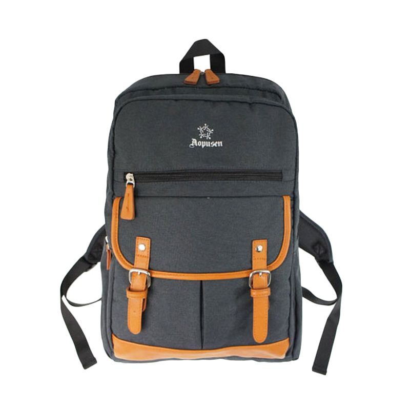 Aopusen Backpack AA-11158 Black Tas Ransel