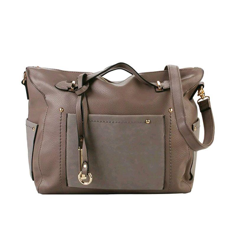 Bellezza 1304-38 Handbag Grey Tas Tangan Wanita