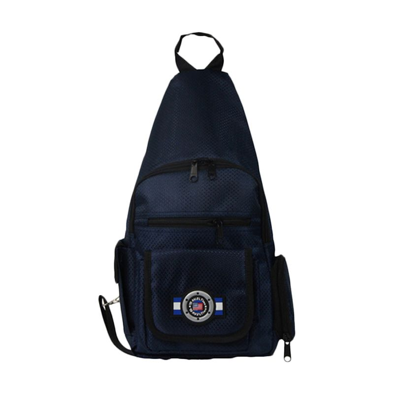 Traveltime PAU 914 Shoulder Dark Blue Tas Pria