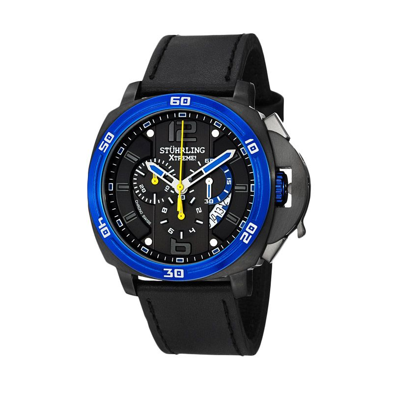 Stuhrling Excursion Blazer Blue Jam Tangan Pria