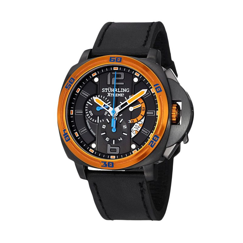 Stuhrling Excursion Blazer Orange Jam Tangan Pria