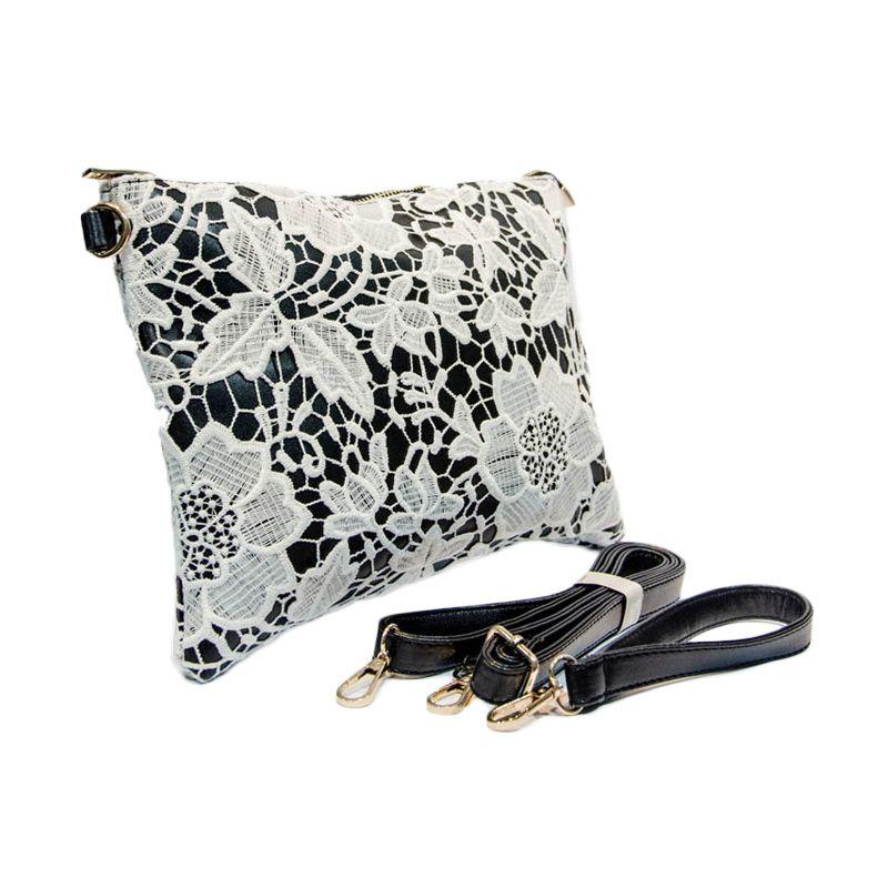 Yubenobe Bijou Black White Clutch Bag