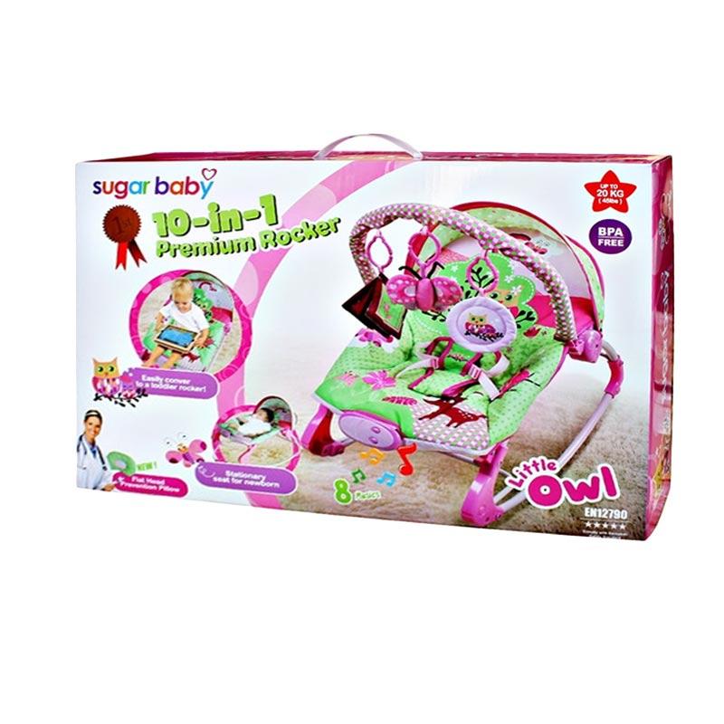 Sugar Baby Premium Rocker Bouncer Owl Pink Tempat Tidur Bayi