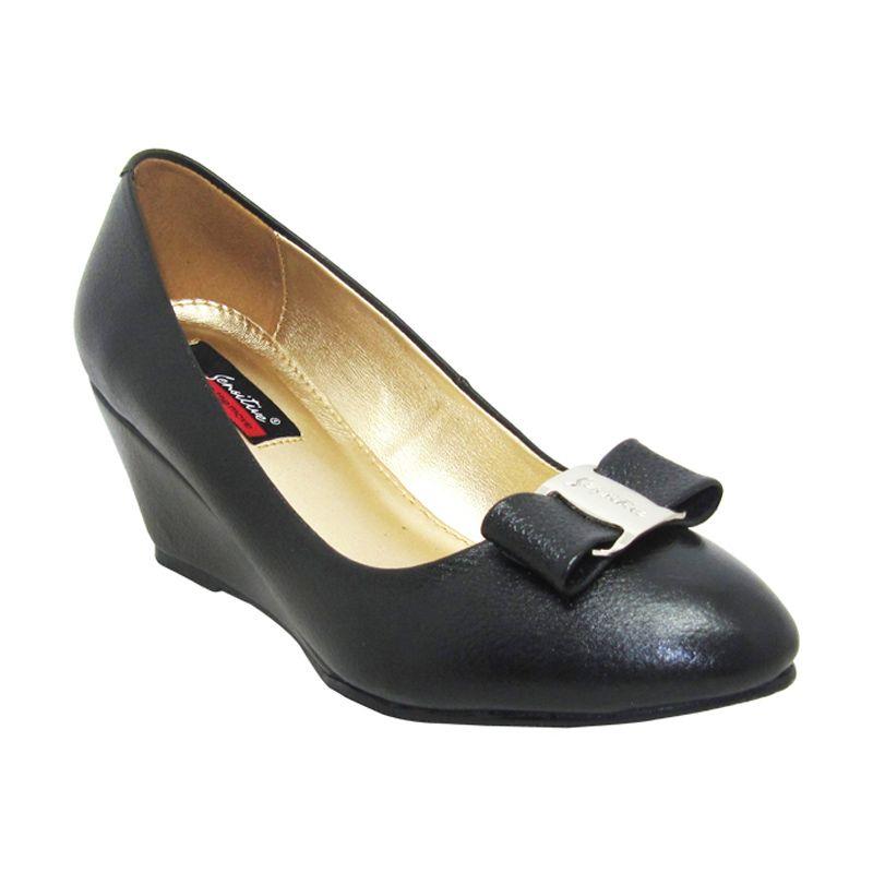 Sui Sui Tania 601 Black Sepatu Wedges