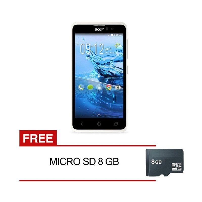 ACER Liquid Z520 White Smartphone [8 GB] + MicroSD [8 GB]