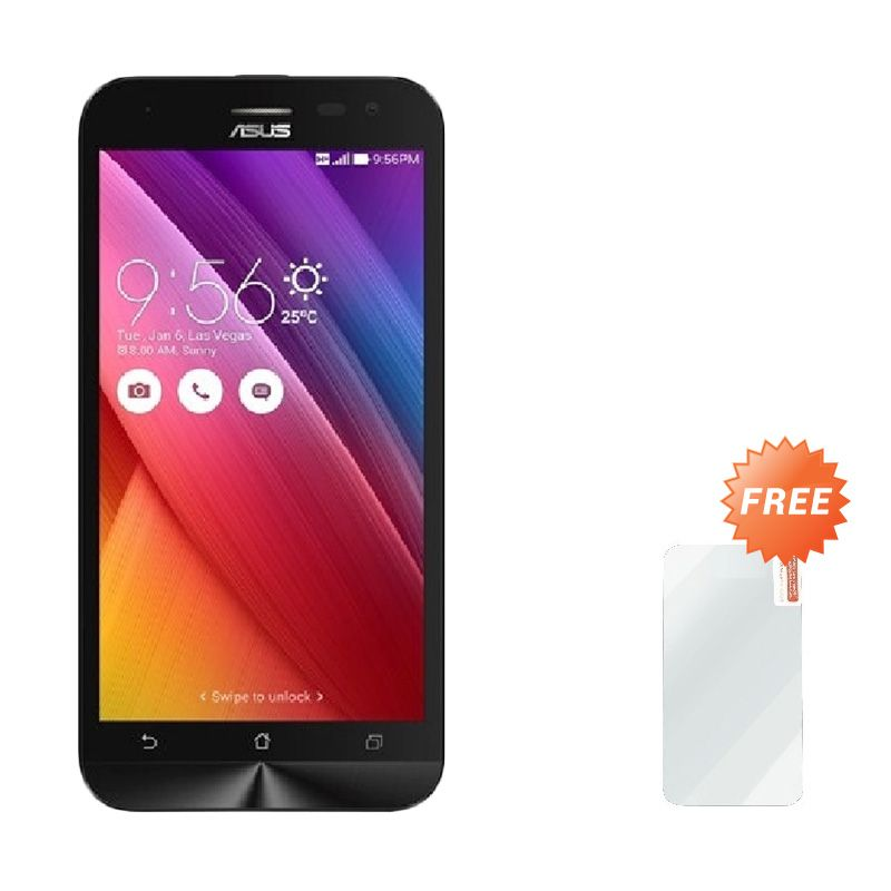 Asus Zenfone 2 Laser ZE500KG Hitam Smartphone [8 GB] + Tempered Glass Screen Protector