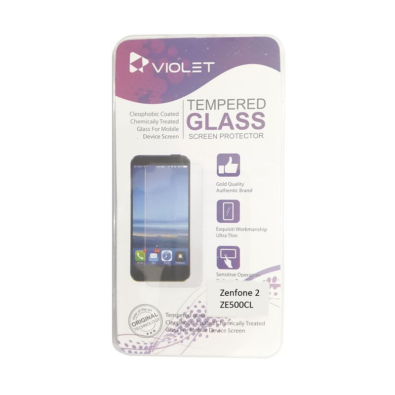 Violet Tempered Glass Screen Protector for Asus Zenfone 2 ZE500Cl